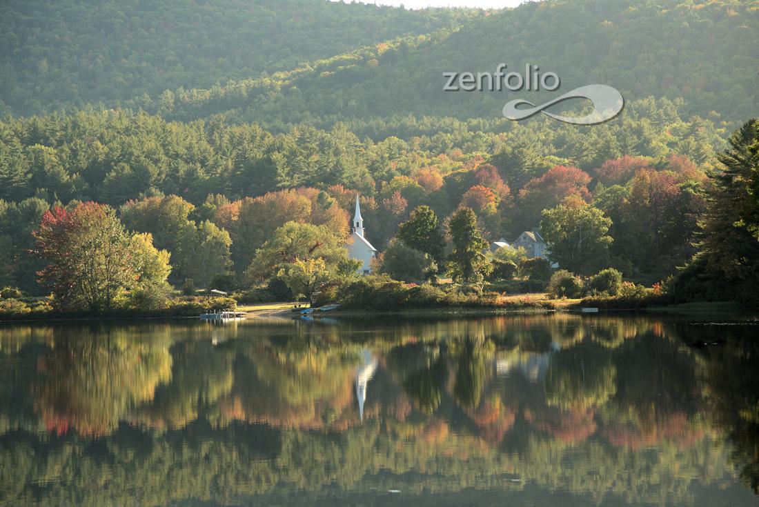 White Church in Elmore, Vermont
